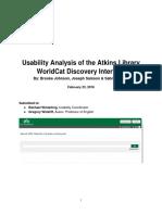 formal report - portfolio version