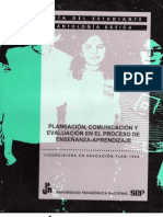 Planeación, comunicación y evaluación en el proceso de Enseñanza - Aprendizaje