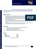 Carta Descriptiva Clima Laboral DIRH