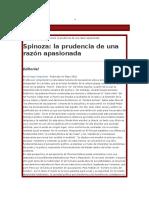 Spinoza La Prudencia de Una Razón Apasionada