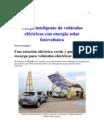 Carga Inteligente de Vehículos Eléctricos Con Energía Solar Fotovoltaica