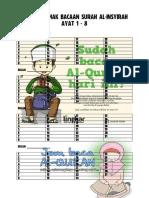 Senarai Semak Bacaan Surah Al-Insyirah