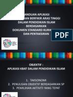 Taklimat Aplikasi Kbat Dalam p.islam Berdasarkan Dskp Juk Tahun 6 Sabah