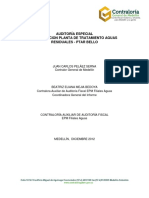 Auditoría Adjudicación Planta de Tratamiento Aguas Residuales PTAR Bello