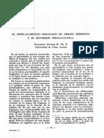El Desplazamiento Semántico de origen represivo y su reversión psicoanalítica, Guillermo Otálora