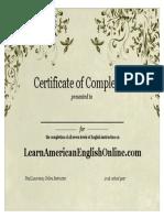 2016 Certificate