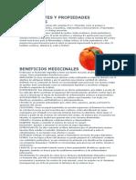 Componentes y Propiedades Nutritivas