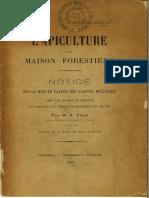 Apiculture en Maison Forestière