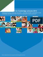 Syllabus Updates for Cambridge Schools 2013