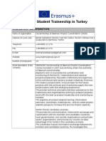 Traineeship Offer Form INCOMING