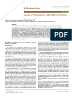 Growth Potential Assessment of Actinomycetes Isolated From Petroleum Contaminated Soil 2155 6199.1000259