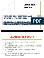 Chapter 3Market Segmentation and Strategic Targeting