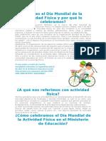 Qué Es El Día Mundial de La Actividad Física y Por Qué Lo Celebramos