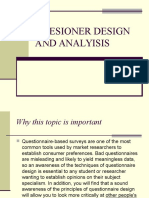 Quesioner Design and Analyisis