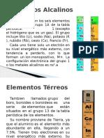 Elementos Alcalinos