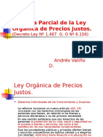 Reforma Parcial de La Ley Orgánica de Precios