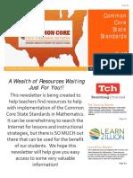 ccss math newsletter