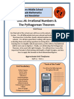 unit 6 irrational numbers and pythagorean theorem newsletter