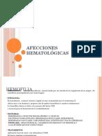 AFECCIONES HEMATOLÓGICAS