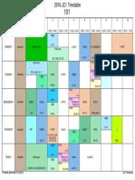 2016 JC1 CTG Timetable