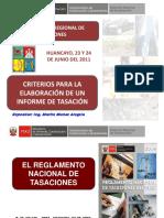 1. Criterios Para La Elaboración Del Informe Técnico de Tasación