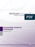 Blackboard Collaborate Accessibility Guide V11