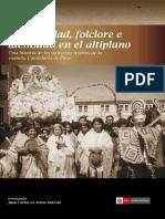 Religiosidad Folclore e identidad en el Altiplano publicacion de la DDCPuno, Febrero 2016