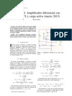Informe de laboratorio 4 - Electrónica Análoga - Amplificador diferencial MOSFET