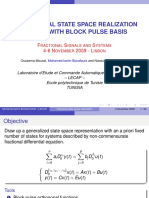 A Fractional State Space Realization Method With Block Pulse Basis