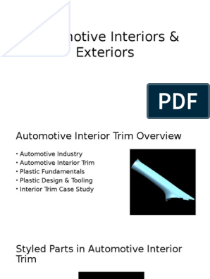 Automotive Interiors Exteriors