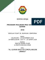 Kertas Kerja Program Mulakan Pagi Dengan Al Quran