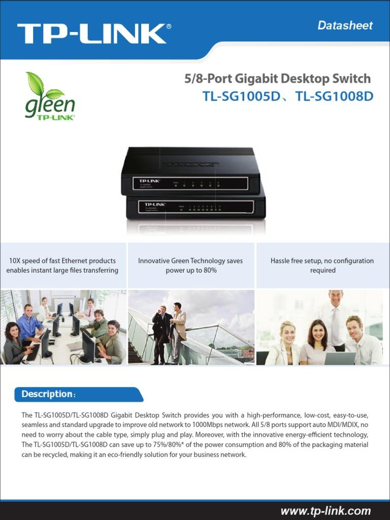 Tl Sg1005d Sg1008dpdf Network Switch Networking Standards Tp Link 8 Port Gigabit Desktop Sg1008d