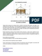 Terremoto en Ecuador, PLANOS DE CASITA PARA DAMNIFICADOS