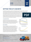 Setting Time of Concrete