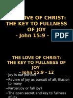 The Love of Christ_secret of Fullness of Joy