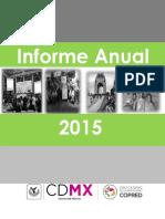 Informe Anual 2015 COPRED CDMX