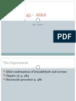 Chem2445 Aldol