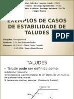 Exemplos de Casos de Estabilidade de Taludes