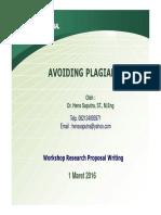 Avoiding Plagiarism 2016