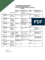 Bioscience Schedule