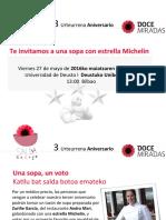 Sopa con Zuriñe García en el tercer aniversario de las Doce Miradas