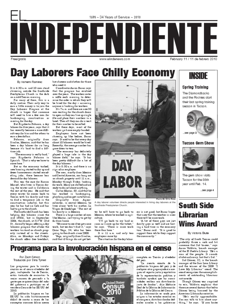 El Independiente Spring 2010 | Library Science | Library And Museum