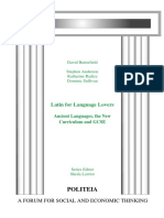 Latin for Langauge Lovers- Print Edition