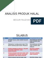 Analisis Produk Halal
