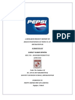 a research project report on brand positioning on pepsi.co in bhubaneswar
