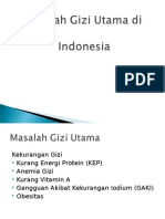 Masalah Gizi Utama Di Indonesia Gizmas
