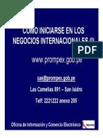 Comercio Exterior - Cómo Iniciarse en Negocios Internacionales i Prompexperu