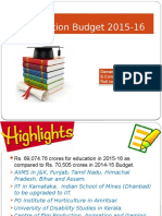 Education Budget 2015-16