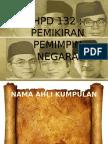 mantan perdana menteri pertama, kedua dan ketiga