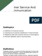 Customer Service and Communication
